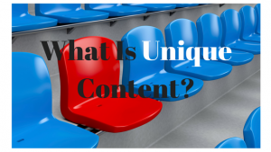 What Is Unique Content