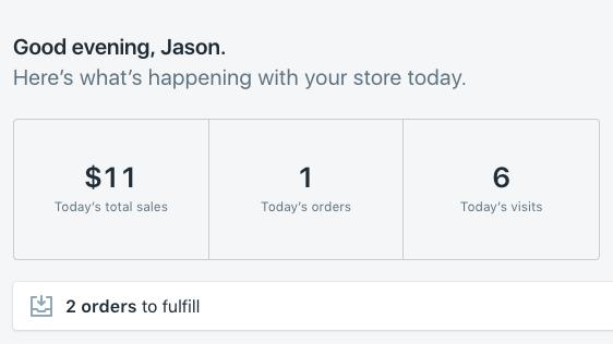 Shopify Sales