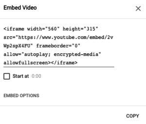 how to add youtube video to a website