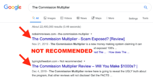 The Commission Multiplier Reviews